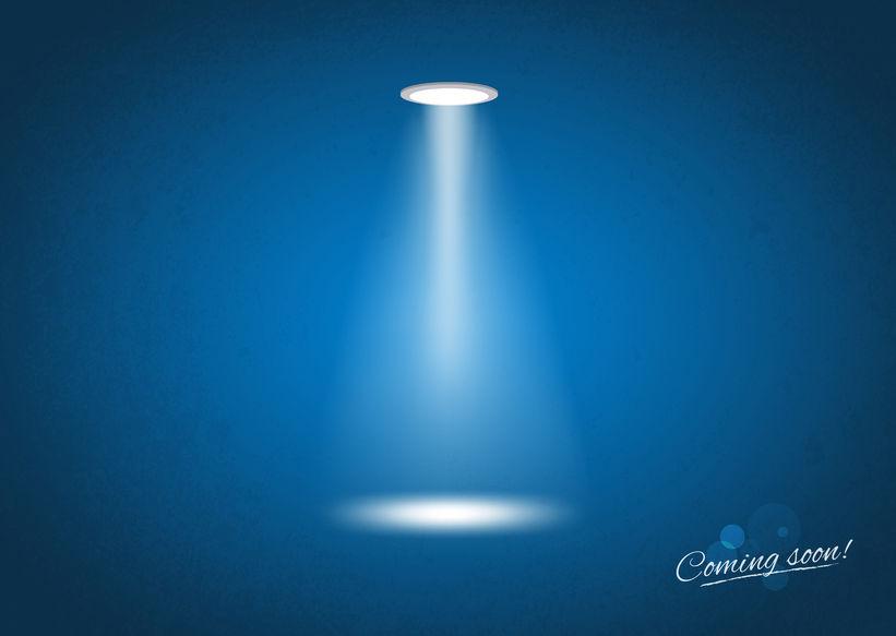 32368792 - coming soon spotlight sign - illustration