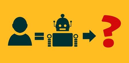 54213172 - human to robot evolution. robotics industry relative image. singularity problem metaphor